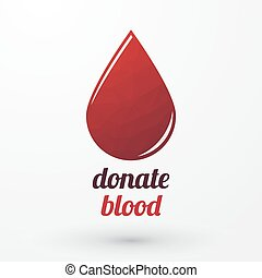 Donate blood and red drop