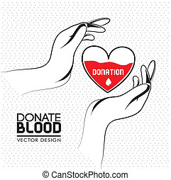 donate blood over white background vector illustration