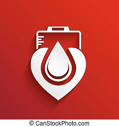Donate blood  concept design on red background