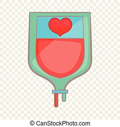 Donate blood concept icon, cartoon style