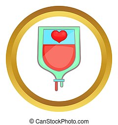 Donate blood concept  icon