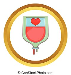 Donate blood concept vector icon