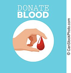 donate blood hand with drop