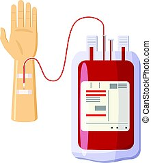 Donate blood icon, cartoon style