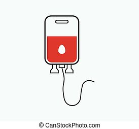 donate blood icon illustrated in vector on white background