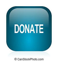 donate blue glossy internet icon - blue glossy web icon
