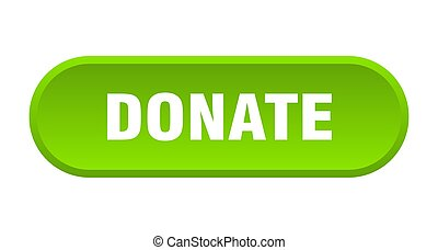 donate button. donate rounded green sign. donate