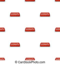 Donate button icon in cartoon style isolated on white background. Charity and donation symbol stock vector illustration.