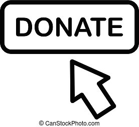Donate button icon, outline style