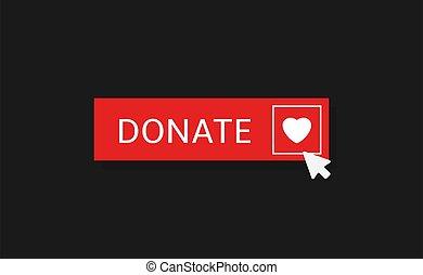 Donate button icon