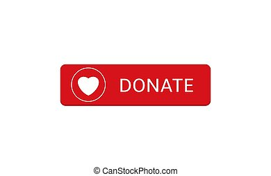 Donate button icon15 - Voluntary and donation concept. ...