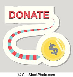 Donate button with dollar sign.