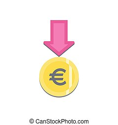 Donate button with euro sign.