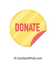 Donate button with gold coin