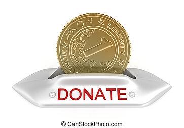 Donate concept icon
