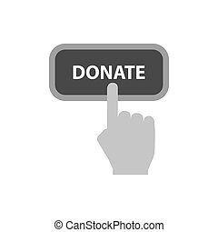 Donate concept icon. Symbol in trendy flat style isolated on white background.