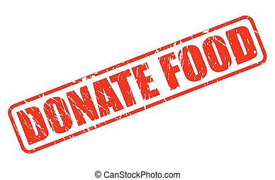 DONATE FOOD RED STAMP TEXT