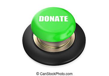 Donate green push-button