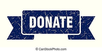 donate grunge ribbon. donate sign. donate banner