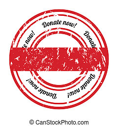 donate grunge rubber stamp with special design