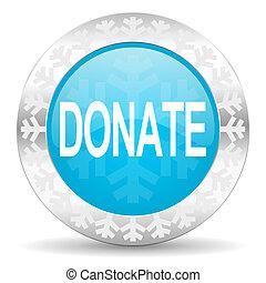 donate icon, christmas button