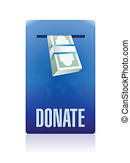 donate in box illustration design