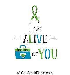 Donate Life awareness lettering