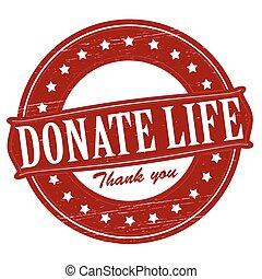 Donate life - Stamp with text donate life inside, vector ...
