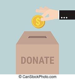 Donate Money, Charity Concept
