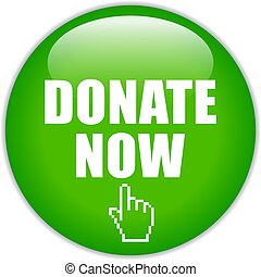 Donate now glass icon