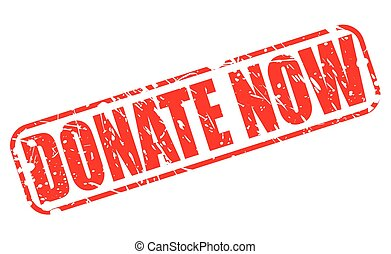Donate now red stamp text