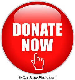Donate now red web button
