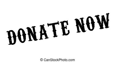 Donate Now rubber stamp