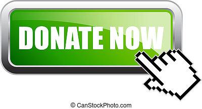 Donate now vector banner