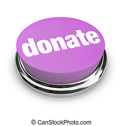 A purple button with the word Donate on it