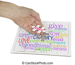Donate to Charity Puzzle