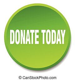 donate today green round flat isolated push button