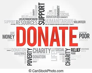Donate word cloud concept