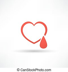 Donated blood icon