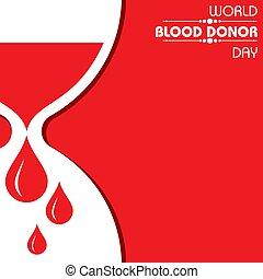 donateur, mondiale, sanguine, jour, créatif, salutation