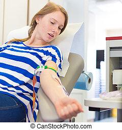 donateur, sanguine, donation.