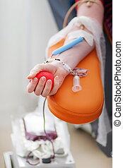 donateur, sanguine, donne