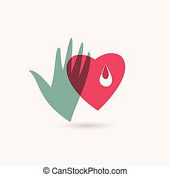 donateur, sanguine, icône