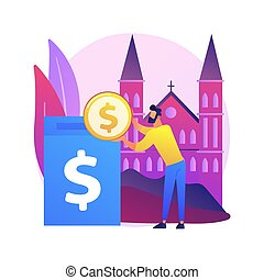 Donation abstract concept vector illustration.