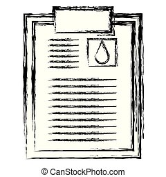 donation blood clipboard paper
