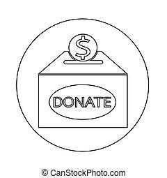 Donation box icon