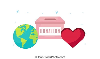 donation campaign for covid19 with box