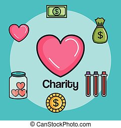donation charity and volunteer work concept