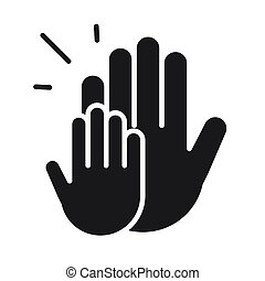donation charity volunteer help social hands silhouette style icon