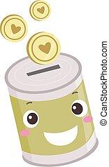 Donation Coin Bank Mascot Illustration - Illustration of a ...